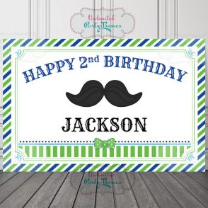 Little Man Birthday Sign