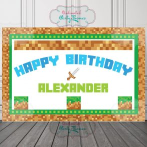 Video Game Birthday Sign