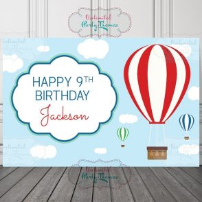 Hot Air Balloon Birthday Sign