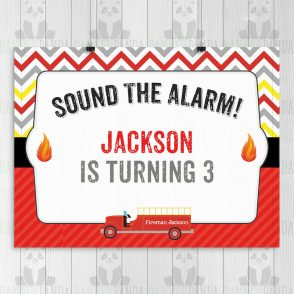 Fireman Birthday Party Sign
