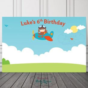 Airplane Birthday Party Sign