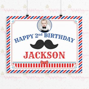 Little Man Birthday Party Sign