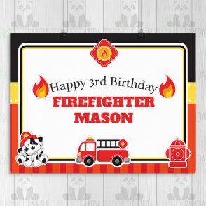 Firefighter Birthday Sign