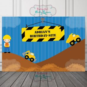 Construction Birthday Sign