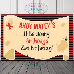 Pirate Birthday Party Sign