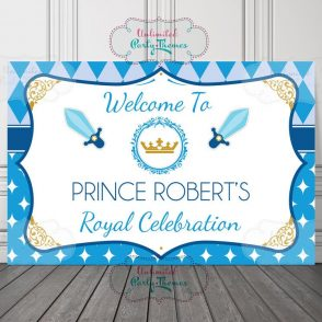 Prince Birthday Sign