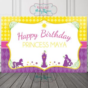 Rapunzel Birthday Backdrop