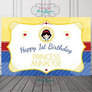 Snow White Birthday Backdrop