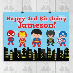 Superman Birthday Party Sign