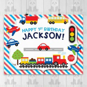 Transportation Birthday Party Sign