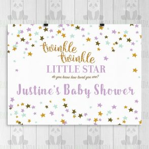 Twinkle Twinkle Baby Shower Backdrop