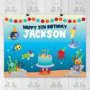 Undersea Birthday Backdrop