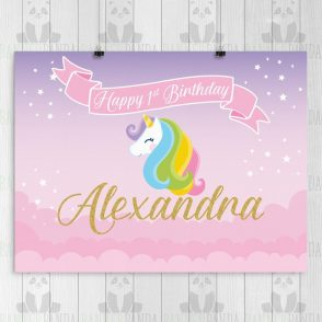 Unicorn Birthday Backdrop