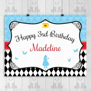 Wonderland Birthday Party Sign